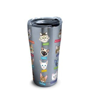 Tervis Cat Breed Faces NEW w/ decal